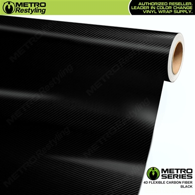 Metro Series Black 4D HD Flexible Carbon Fiber Vinyl Wrap Film
