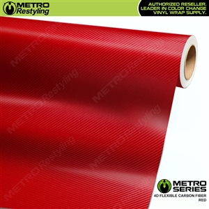 Metro Series Red 4D HD Flexible Carbon Fiber Vinyl Wrap Film