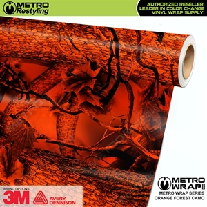 Orange Forest Camouflage Vinyl Vehicle Wrap Film