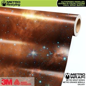Metro Orange Nebula Galaxy Vinyl Car Wrap Film