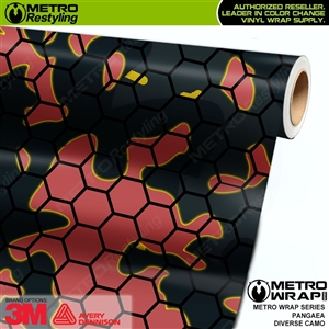 Metro Diverse Series Pangaea Camouflage Vehicle Vinyl Wrap Film