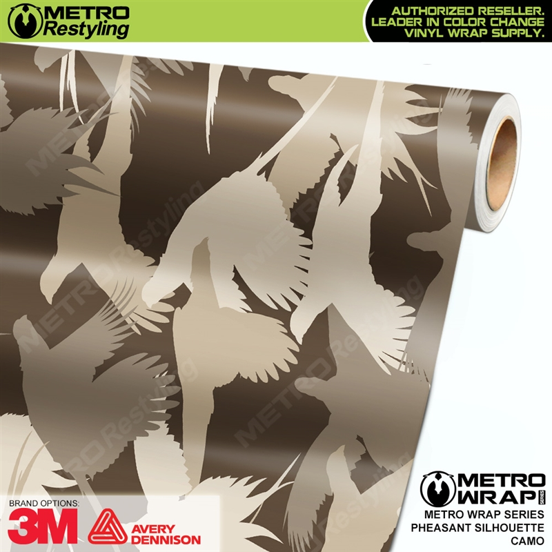 Pheasant Silhouette is a camo vehicle wrap vinyl printed with a