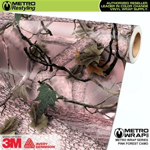Pink Forest Camouflage Vinyl Vehicle Wrap Film