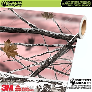 Pink Snowstorm Camouflage Vinyl Vehicle Wrap Film