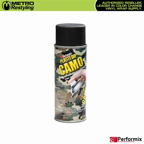 Performix Plasti Dip Camo Rubber Coating Black 11 Oz