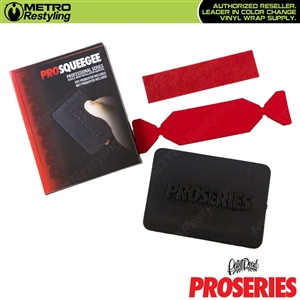 PID Pro Series Pro Squeegee comes with a wet and dry ProBuffer