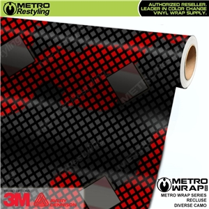 Metro Diverse Series Recluse Camouflage Vinyl Vehicle Wrap Film