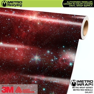 Metro Red Nebula Galaxy Vinyl Car Wrap Film