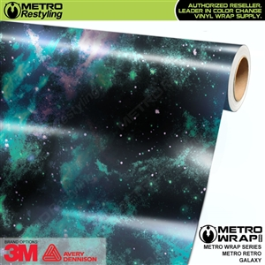 Metro Retro Galaxy Vinyl Car Wrap Film