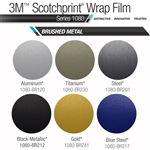 3M Scotchprint 1080 Brushed Metal Vinyl Roof Wrap Kit