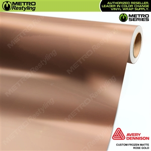 Metro Custom Frozen Matte Rose Gold Chrome