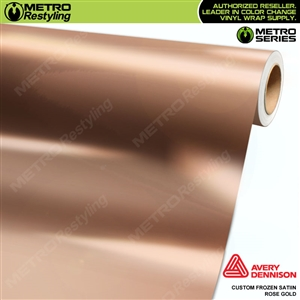 Metro Custom Frozen Satin Rose Gold Chrome