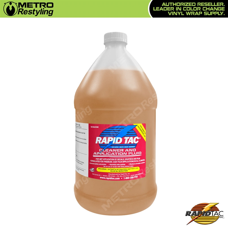 Rapid Tac Decal Application Fluid   Gallon Oz  Shop Online - Custom vinyl decal application fluid