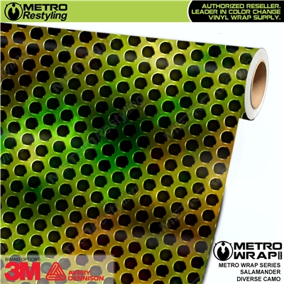 Metro Diverse Series Salamander Camouflage Vehicle Vinyl Wrap Film