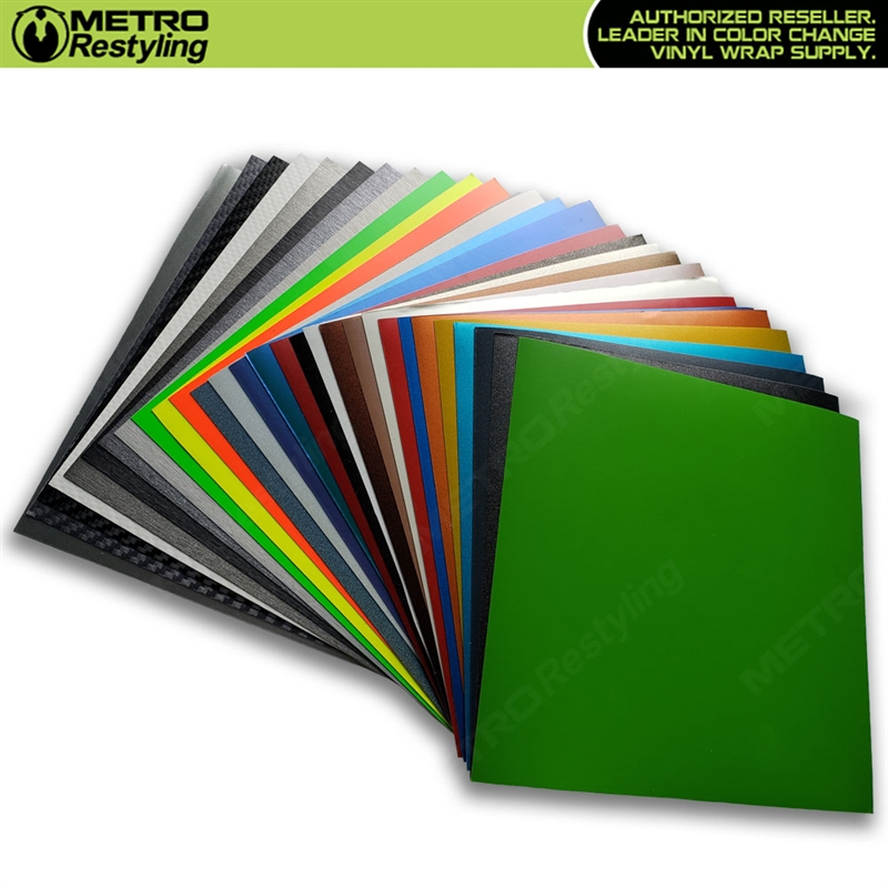 Avery, 3M, and KPMF Vinyl Wrap Sample Kit | 6in x 6in | Fits Easy Wave  Speed Shapes