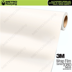 3M 1080 S10 Satin White vinyl vehicle wrapping film