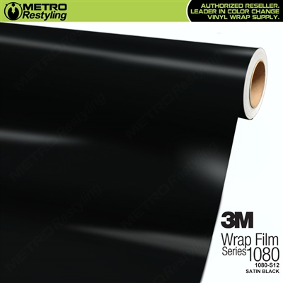 3M 1080 S12 Satin Black vinyl vehicle wrapping film