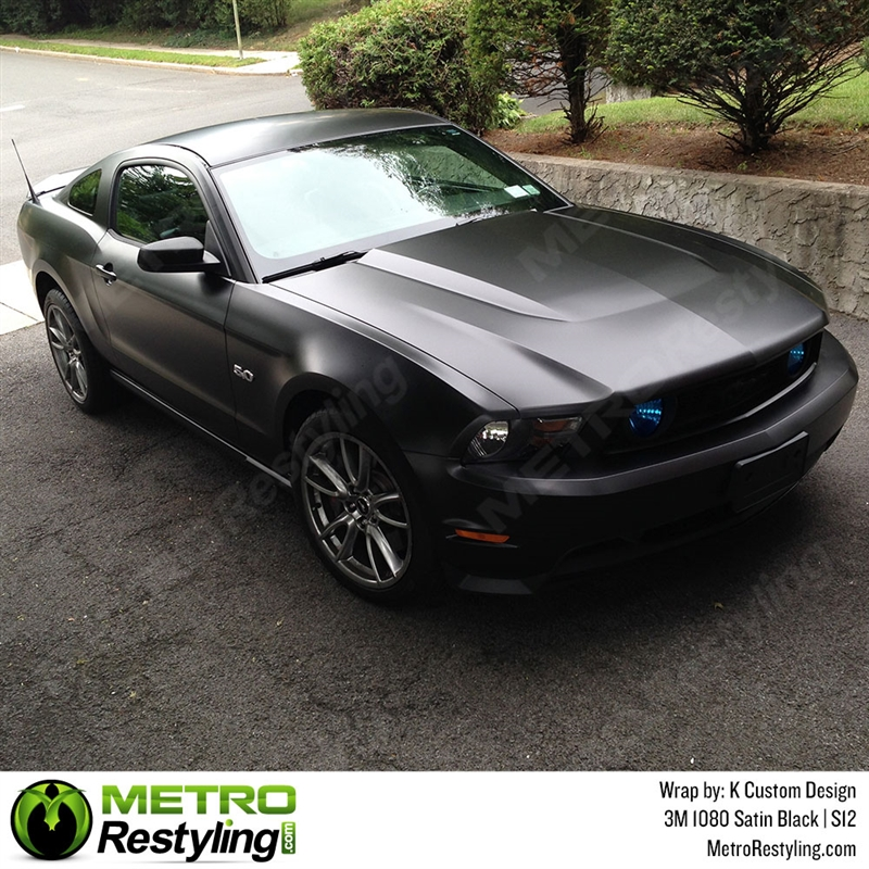 3m 1080 S12 Satin Black Automotive Wrap Vinyl Is An