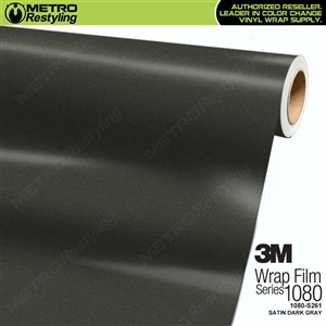 3M 1080 S261 Satin Dark Gray vinyl vehicle wrapping film