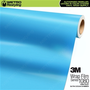 3M 1080 S327 Satin Ocean Shimmer vinyl vehicle wrapping film
