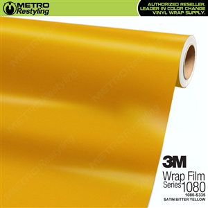 3M 1080 S335 Satin Bitter Yellow vinyl vehicle wrapping film