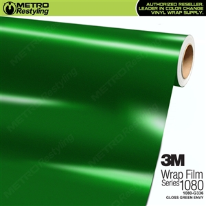 3M 1080 S336 Satin Sheer Luck Green vinyl vehicle wrapping film