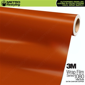 3M 1080 S344 Satin Canyon Copper vinyl vehicle wrapping film
