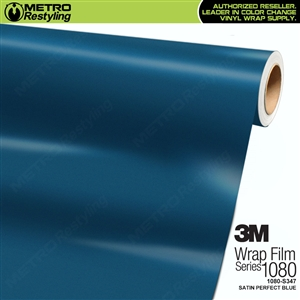 3M 1080 S347 Satin Perfect Blue vinyl vehicle wrapping film