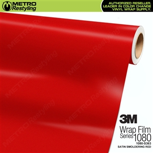 3M 1080 S363 Satin Smoldering Red vinyl vehicle wrapping film