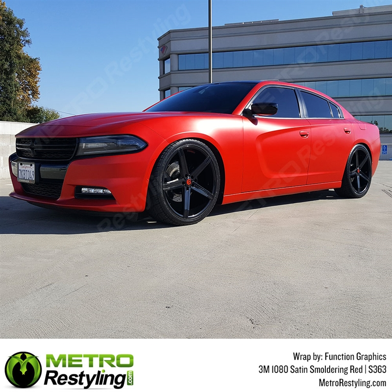 3m 1080 S363 Satin Smoldering Red Automotive Wrap Vinyl Is An