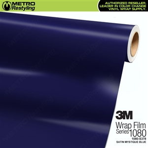 3M 1080 S378 Satin Mystique Blue vinyl vehicle wrapping film