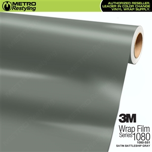 3M 1080 S51 Satin Battleship Gray vinyl vehicle wrapping film