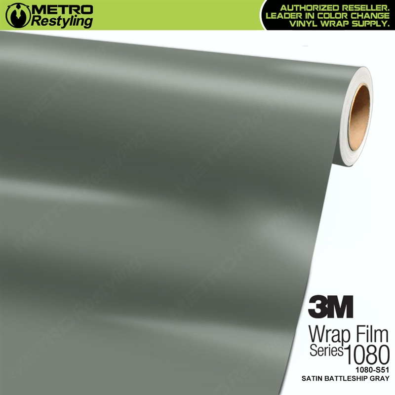 3m 1080 S51 Satin Battleship Gray Vinyl Vehicle Wring Film
