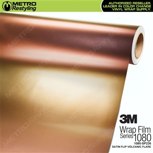 3M 1080 SP236 Satin Flip Volcanic Flare vinyl vehicle wrap film