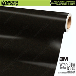 3M 1080 Scotchprint Satin Gold Dust Black Vinyl Wrap
