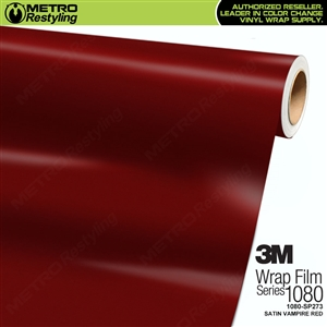 3M 1080 Scotchprint Satin Vampire Red Vinyl Wrap