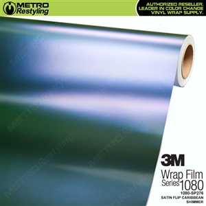 3M 1080 SP276 Satin Flip Caribbean Shimmer vinyl vehicle wrap film