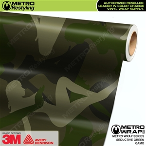 Seductive Green Camouflage Car Wrap Vinyl