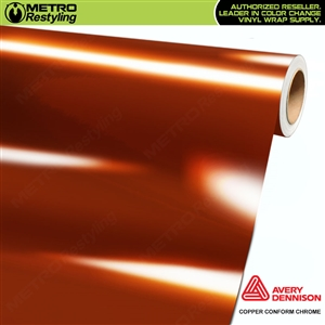 Metro Avery Dennison Gloss Copper Conform Chrome Flexible Vinyl Wrap Film