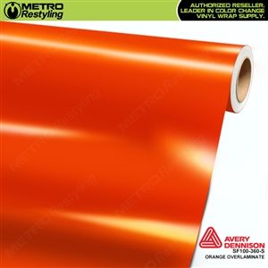 Avery Dennison Transparent Colored Overlaminate for Chrome | Orange | SF100-360-S