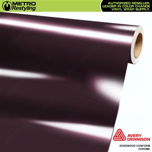 Metro Avery Dennison Gloss Rosewood Conform Chrome Flexible Vinyl Wrap Film