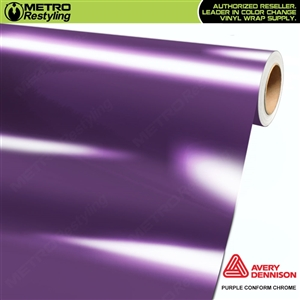 Metro Avery Dennison Gloss Purple Conform Chrome Flexible Vinyl Wrap Film