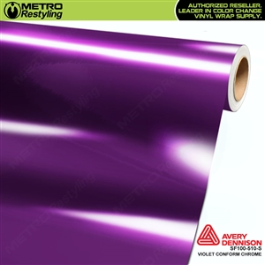 Avery Dennison SF100-510-S Gloss Protected Violet Conform Chrome accent vinyl wrap film gloss laminated.