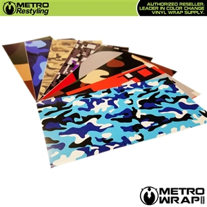 Camouflage Car Wrap Vinyl Samples will show you our high quality print before you commit to buy more.