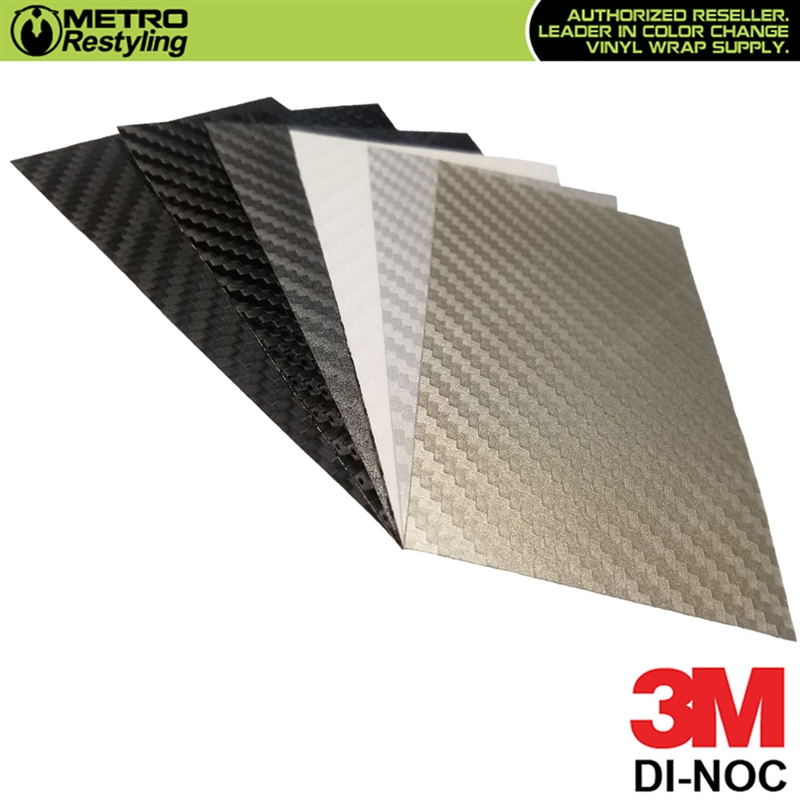 3M DI-NOC Carbon Fiber Sample 3in x 5in
