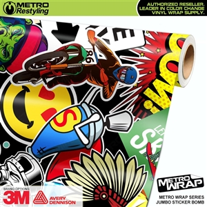 Metro Jumbo Sticker Bomb Vinyl Vehicle Wrap Film