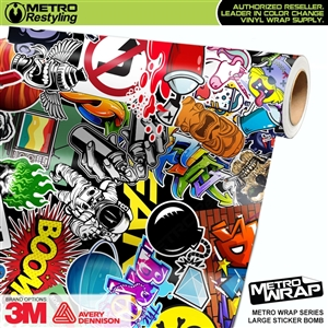 Metro Large Sticker Bomb Vinyl Vehicle Wrap Film