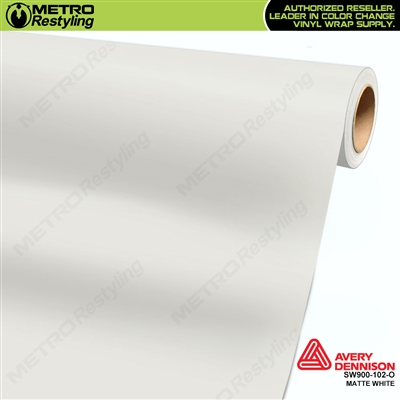 Avery SW900-102-O Matte White wrap vinyl film ideal for car wraps.