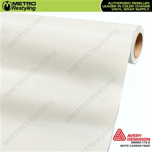 Avery Dennison SW900-115-X White Carbon Fiber vehicle wrapping film