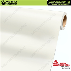 Avery SW900-116-O Satin White vinyl wrap film ideal for car wraps.